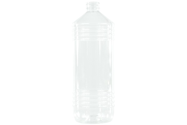 Flaska 1000ml PET klar rund