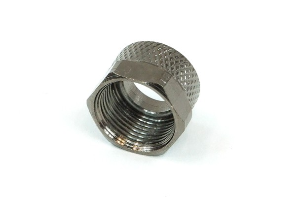 mutter 10mm - svart nickel